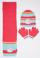 Character Fashion - Hello Kitty  3 Piece Winter Set Mid Pink