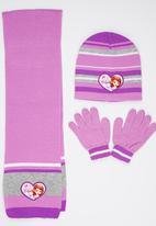Character Fashion - Sofia 3 Piece Winter Set Mid Purple