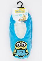 Character Fashion - Minions Sherper Slipper Socks Mid Blue