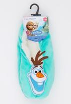 Character Fashion - Frozen Sherper Slipper Socks Light Green