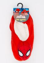 Character Fashion - Spiderman Sherper Slipper Socks Red