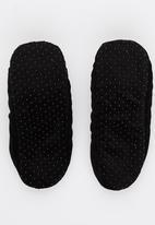 Character Fashion - Batman Sherper Slipper Socks Black