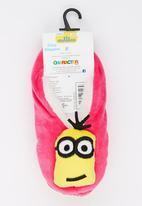 Character Fashion - Minions  Sherper Slipper Socks Dark Pink