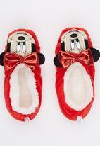 Character Fashion - Minnie Sherper Slipper Socks Red