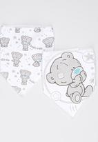 Character Baby - Tiny Tatty Teddy 2 Pack Bandanna bibs Pale Grey