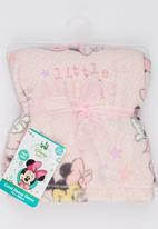 Character Baby - Minnie Mouse Coral Fleece Throw Pale Pink
