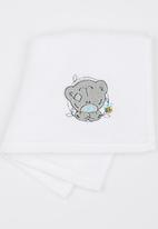 Character Baby - Tiny Tatty Teddy 1 Pack Face Cloth (Embroidered) White