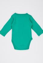 Soobe - Long-sleeve Printed Babygrow Green