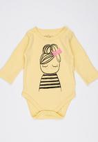 Soobe - Long-sleeve Printed Babygrow Yellow