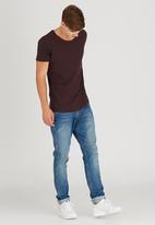 Silent Theory - Pigment Tail Tee Dark Red