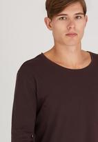 Silent Theory - L/S Pigment Tail Tee Dark Red