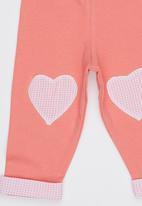 Hooligans - Girls Heart Track Pants Coral