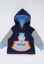 Hooligans - Cool Dude Hooded  Jacket Navy