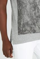 S.P.C.C. - Marble Print Tee Grey