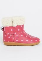 shooshoos - Strawberry Cheescake Boots Mid Pink