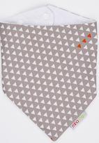 Mina Moo - Taupe Geo Triangle Bib Multi-colour
