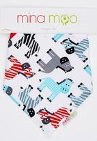 Mina Moo - Zebras Bib Multi-colour