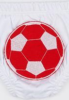 Baby Corner - Happy Pants  Football White