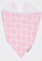Mina Moo - Pink Geometric Bib Mid Pink