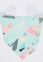 Mina Moo - Mint & Pink Art Deco Bib Multi-colour