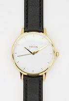 Nixon - Kensington Leather Watch Gold