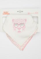 Baby Corner - 3 pack Bandana Bib - Sheep Pale Pink