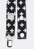 Mina Moo - Black Swiss Cross Dummy Clip Multi-colour