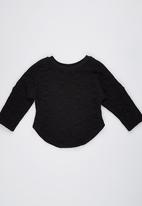 POP CANDY - Fleece Top  Black