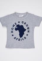 Home Grown Africa - HGA Logo  Tee Grey