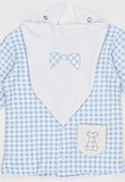 Baby Corner - Checked  Printed  5 Piece Set Blue