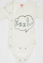 Baby Corner - Printed Long Sleeve Bodysuit Green