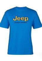 JEEP - S/S Applique/ Emb Tee Mid Blue