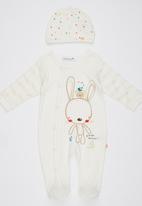 London Hub - Newborn Unisex 2 Piece Sleepsuit White