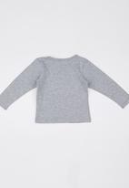 Luke & Lola - Printed Long-sleeve Tee Grey
