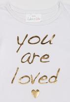 Luke & Lola - Printed Long Sleeve Tee White