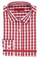 Brooksfield - Semi Formal Cut Away Collar Shirt Red