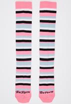 Toe Porn - Ricky Stripe Knee Hi Socks Multi-colour