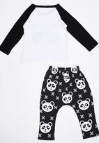 POP CANDY - Panda  Pj Set Black and White