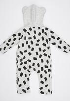 POP CANDY - Lion Bodysuit With Hoody Grey
