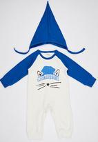 POP CANDY - Blue Fox  Bodysuit With Beanie Mid Blue