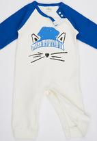 POP CANDY - Blue Fox  Bodysuit With Beanie Mid Blue