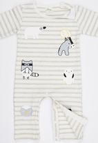 POP CANDY - Stripe  Bodysuit White
