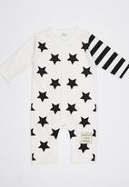 POP CANDY - White  Stars Bodysuit Black