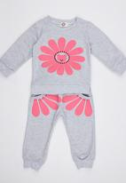 POP CANDY - Flower  Track Top and Pant Grey