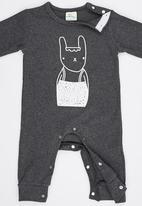 POP CANDY - Bunny  Bodysuit With Beanie Black