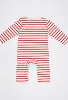 POP CANDY - Stripe  Bodysuit Red