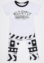 POP CANDY - Wild Gypsy Pj Set Black and White