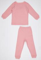 POP CANDY - Pink  Long Sleeve Pant Set Pale Pink