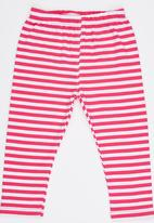 POP CANDY - Pink Stripe Legging Mid Pink