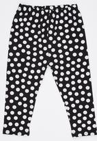 POP CANDY - Polka Dot Legging Black and White